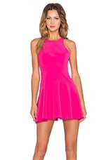 Tucked In Fit & Flare Dress in Pink
