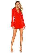 NBD Como La Flor Suit Dress in Red Orange