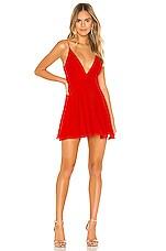 NBD Layla Mini Dress in Red Orange