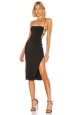 NBD Becky Midi Dress in Black