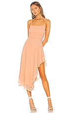 NBD Yvonne Midi Dress in Peach Nude