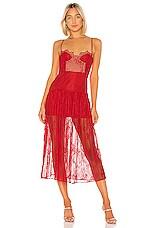 NBD Desert Rose Midi Dress in Candy Red