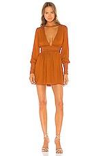 NBD Cara Mini Dress in Copper
