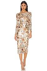 NBD Jurnee Midi Dress in Nude Floral