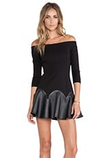 NBD Maybe Fit & Flare Dress in Black