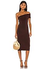 NBD Mae Dress in Brown