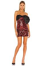 NBD Rochelle Mini Dress in Red & Black