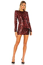 NBD Kailani Mini Dress in Red & Black