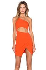 NBD x Naven Twins Cherish Dress in Red Orange