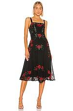 NBD Alejandro Midi Dress in Red & Black