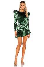 NBD Scotti Mini Dress in Emerald Green