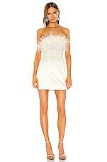 NBD Gracy Mini Dress in White & Silver