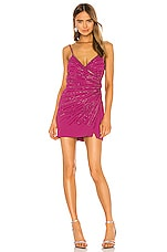 NBD Ellaria Embellished Dress in Fuchsia