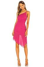 NBD Cecilia Midi Dress in Fuchsia