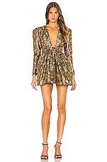 NBD Danjelica Mini Dress in Gold & Magenta