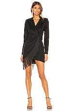 NBD Fiyona Fringe Suit Dress in Black