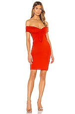 NBD Illusion Dress in Red