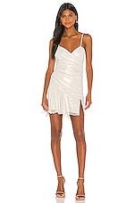 NBD Warp Speed Mini Dress in Silver