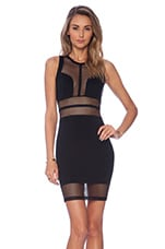 Night Cap Bodycon Dress in Black