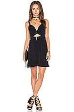 NBD x Naven Twins Alright Sweetheart Fit & Flare Dress in Black