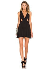 NBD X Naven Twins Ask Me Out Mini Dress in Black