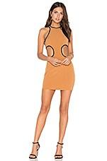 NBD x REVOLVE Small Talk Mini Dress in Camel