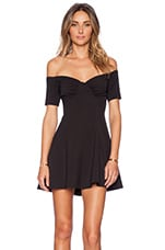 NBD Whoops Fit & Flare Dress in Black