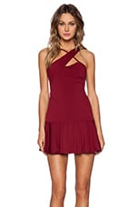 Double Take Dress in Oxblood