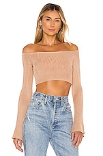 NBD Colombo Cropped Sweater in Almond