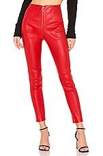 NBD Nova Leather Pant in Cabernet