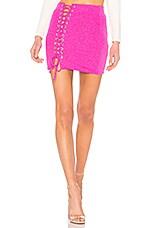 NBD Skip The Line Skirt in Fuchsia