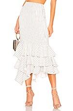 NBD Ayesha Midi Skirt in White & Black