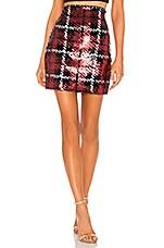 NBD Liz Mini Skirt in Red & Black