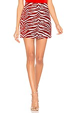 NBD Wild Child Mini Skirt in Red & White