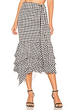 NBD Ayesha Midi Skirt in Black & White