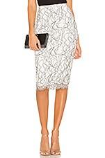 NBD Marissa Midi Skirt in White & Black