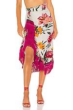 NBD Alaina Midi Skirt in Hot Pink & Ivory