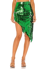 NBD Rihanna Midi Skirt in Bright Green