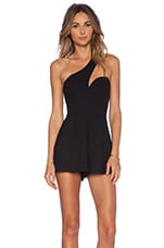 NBD x Naven Twins Back It Up Romper in Black