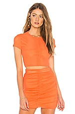 NBD Sydel Crop Top in Poppy Orange