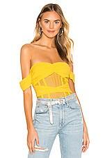 NBD Alano Bodysuit in Canary Yellow