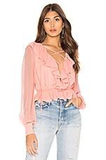 NBD Edie Long Sleeve Top in Pastel Pink