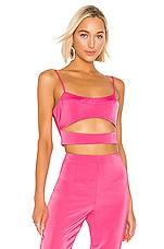 NBD Jaiden Crop Top in Hot Pink