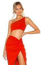 NBD Kayla Crop Top in Red Orange
