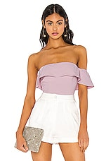 NBD x Naven Tiffany Bodysuit in Lilac