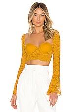 NBD x Naven Serena Crop Top in Yellow