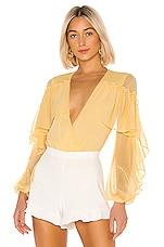NBD Ambrosia Bodysuit in Cream Yellow