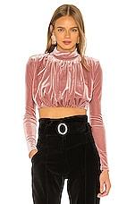 NBD Clara Long Sleeve Top in Blush Pink