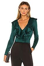 NBD Corona Wrap Top in Emerald Green