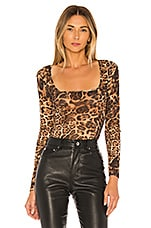 NBD Harlee Top in Leopard